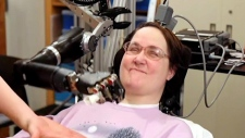 Controlling robotic arm with brain