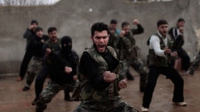 Syrian rebels training session