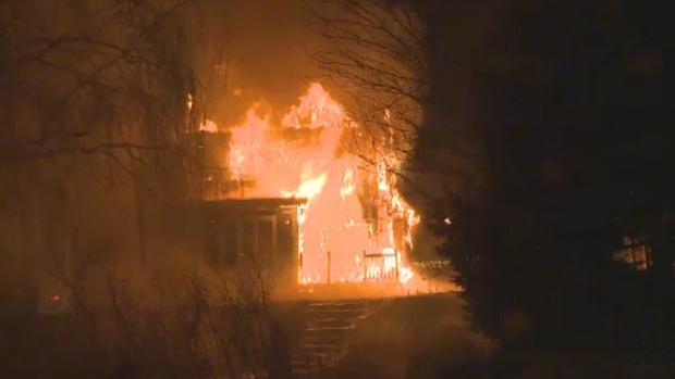 Mont St. Hilaire fire