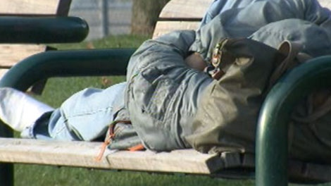 Officials estimate about half of homeless people have some type of mental illness.