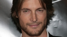 Model Gabriel Aubry arrives at Wilhelmina Models' 40th anniversary celebration at The Angel Orensanz Foundation Thursday, Nov. 29, 2007 New York. (AP Photo/Gary He)