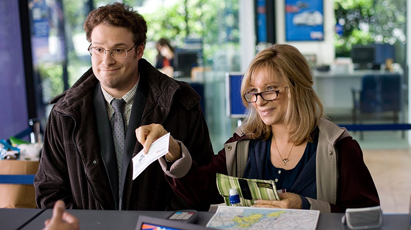 Seth Rogen, left, and Barbra Streisand in a scene from Paramount Pictures Canada's 'The Guilt Trip'