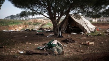 Syria violence refugee camp