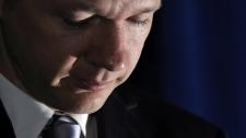 WikiLeaks founder Julian Assange speaks during a news conference in London, Oct. 23, 2010. (AP / Lennart Preiss)