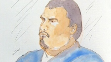 Joshua Houle, court sketch