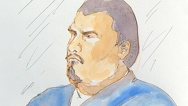 Joshua Houle is shown in a sketch at a court appearance on Tuesday, December 18.