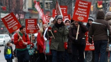 Ontario teachers walkout