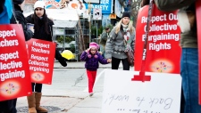 striking teachers Toronto Dec. 18