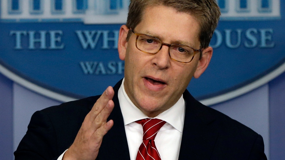 White House press secretary Jay Carney briefs reporters at the White House in Washington, Tuesday, Dec. 18, 2012. (AP / Charles Dharapak)