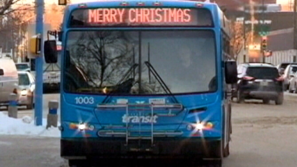 'Merry Christmas' greeting on Saskatoon bus sparks