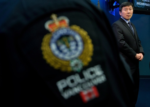Vancouver Police Chief Jim Chu looks on after responding to Commissioner Wally Oppal's inquiry report into serial killer Robert Pickton, during a news conference on Dec. 18, 2012. (Darryl Dyck/THE CANADIAN PRESS)