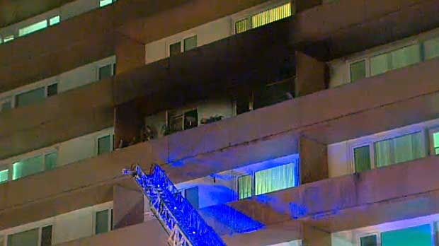 Fire crews say that a fire that broke out in a sixth floor apartment in northwest Calgary caused extensive smoke damage.