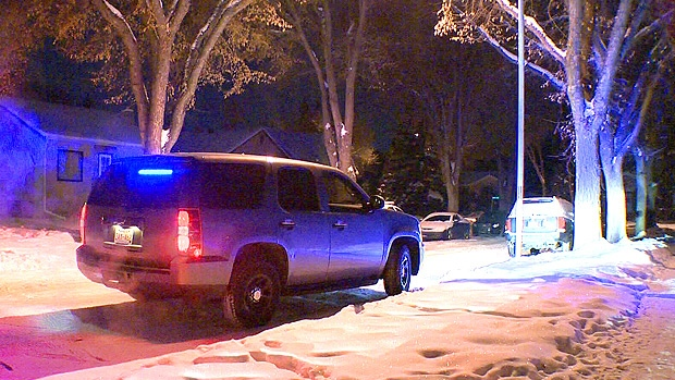 Police on the scene of a random attack in the area of 109 St. and 74 Ave. on Wednesday, December 19.