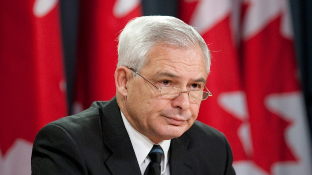 Pierre Daigle, ombudsman for the Department of National Defence and the Canadian Forces, pauses while addressing the media in Ottawa on Thursday, Dec. 2, 2010. (Pawel Dwulit / THE CANADIAN PRESS)