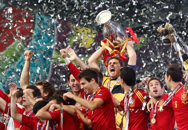Spain celebrates Euro 2012 soccer championship win