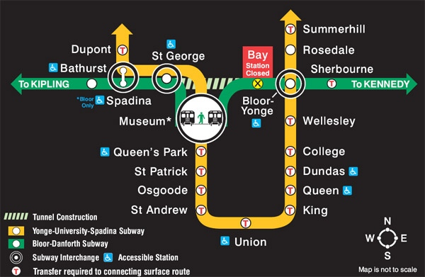 Bloor Danforth Subway Map.Subway Repairs Cause Slight Delays For Passengers Ctv News Toronto