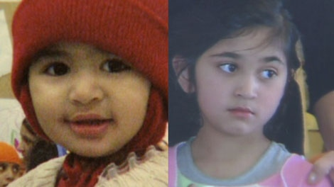 Three-year-old Priya Saroya and her older sister Sajel, 5, were both killed in a house fire in Surrey on Nov. 30, 2010. (CTV)