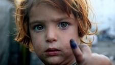 Pakistani girl shows finger