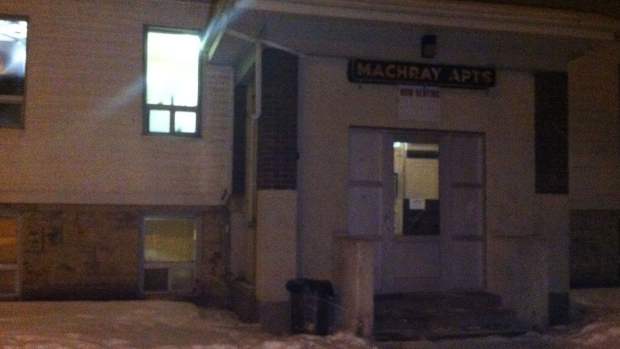 A fire broke out at this apartment early Thursday