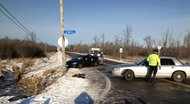 Rollover on Upper Dwyer Hill Road