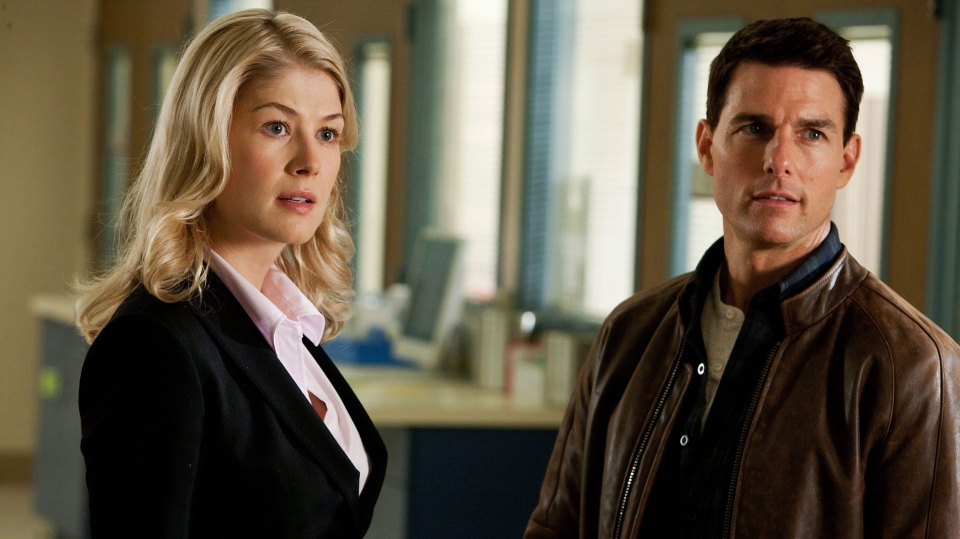 Rosamund Pike and Tom Cruise in a scene from Paramount Picture Canada's 'Jack Reacher'.