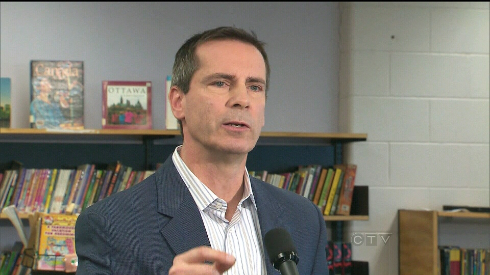 Ontario Premier Dalton McGuinty speaks about school safety at the St. Fidelis Early Learning Centre in Toronto on Thursday, Dec. 20, 2012.
