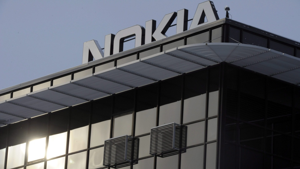 Huawei rival Nokia reports a rise in fourth-quarter earnings due to a strong demand for 5G mobile networks. (AP Photo/Lehtikuva/Jussi Nukari)