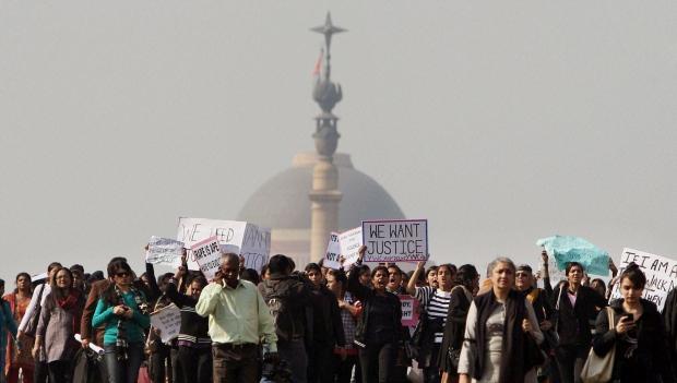 New Delhi India gang rape protest
