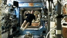 Astronaut Chris Hadfield Arrives at the ISS