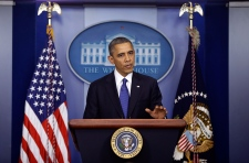 U.S. President Obama comments on the fiscal cliff
