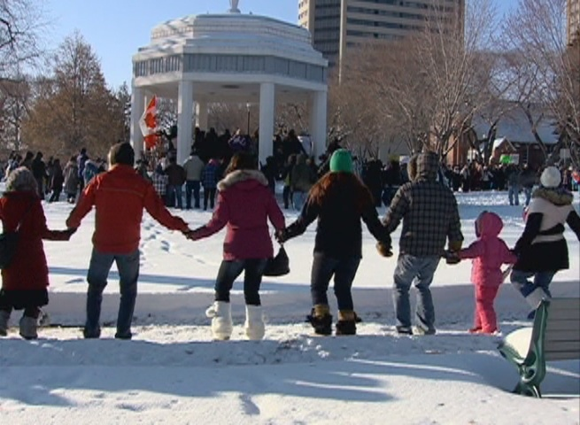 Hundreds gathered in Saskatoon, and around the province for Idle no More rallies