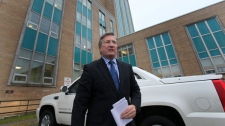 Danny Williams arrives at the Confederation Building in St. John's to begin his final day as the 9th Premier of Newfoundland and Labrador, Friday, Dec. 3, 2010. (Paul Daly / THE CANADIAN PRESS)
