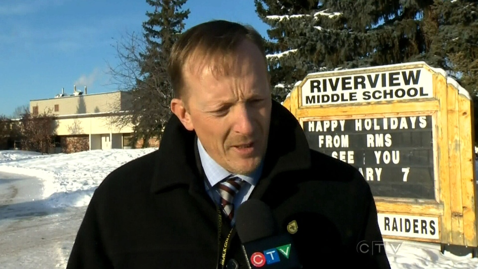 Principal of Blackgold Regional School Norman Dargis speaks about when they were altered of the threats.