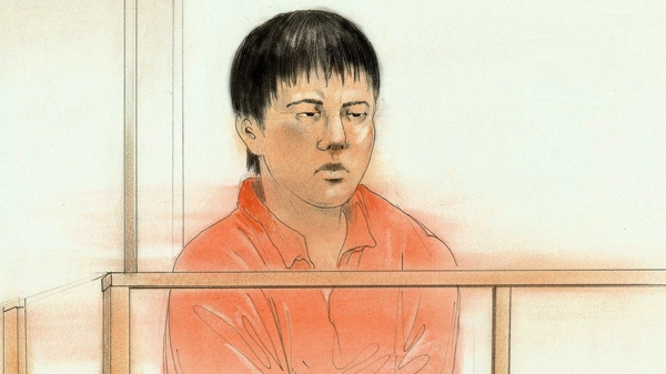 Zhou Fang is seen in this artist's rendition during court proceedings in Toronto, Friday, Dec. 3, 2010. (John Mantha for CTV News)