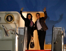 U.S. President Barack Obama and first lady Michell