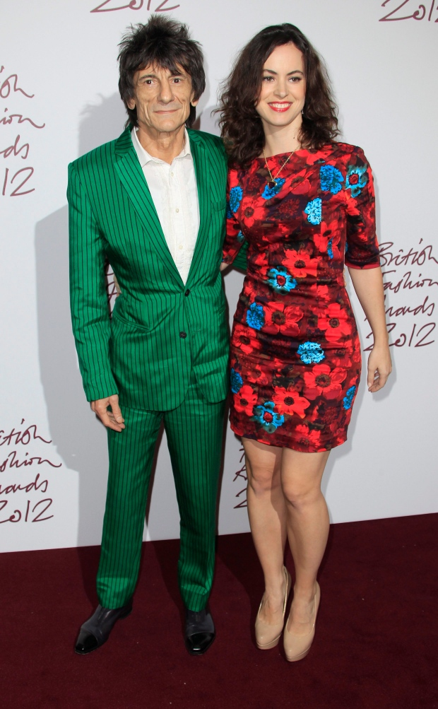 Ronnie Wood and Sally Humphreys on Nov. 27, 2012.
