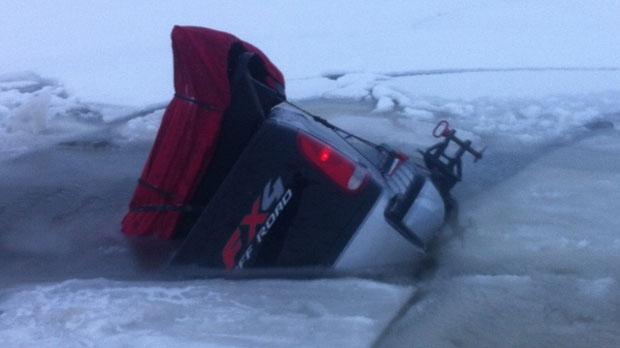 Car through ice (photo by Brian Beck)
