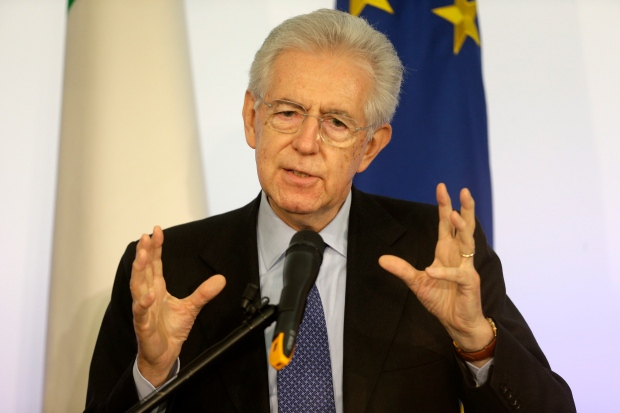 Italy's Monti says he won't run in February