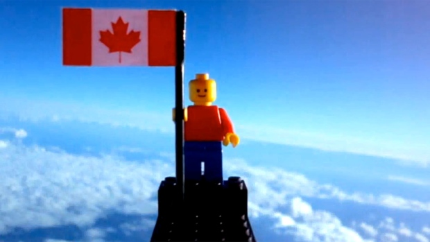 Two Toronto teens sent a Lego man into space