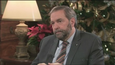 Thomas Mulcair on a happy Quebec