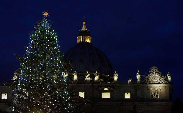 St. Peter's square Christmas tree Dec. 2012