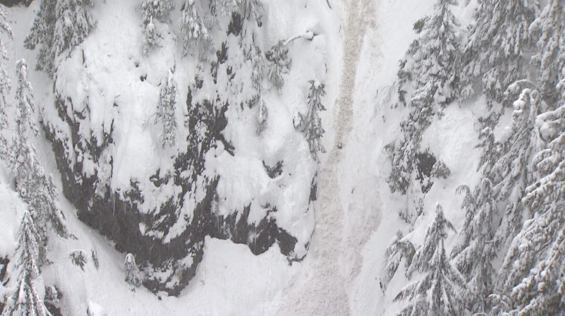 Reports of an avalanche on the Grouse Grind on Sunday turned out to be a false alarm. December 23, 2012. (CTV)