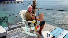 Milan Egrmajer on a previous voyage to Guatemala and Honduras. The veteran sailor was murdered in a remote bay, after a gang of bandits swarmed his yacht. (Photo from adena.ca)