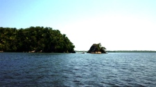 Photo of Laguna del Diamente, the remote bay in Honduras where a Canadian sailor is believed to have been shot by bandits. Photo taken from an online photo album of an earlier voyage in spring 2010.