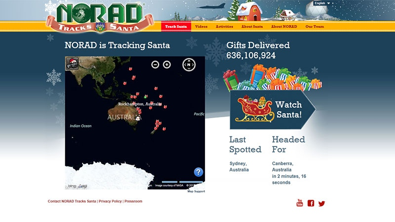 NORAD uses high-tech systems to track Santa Claus.