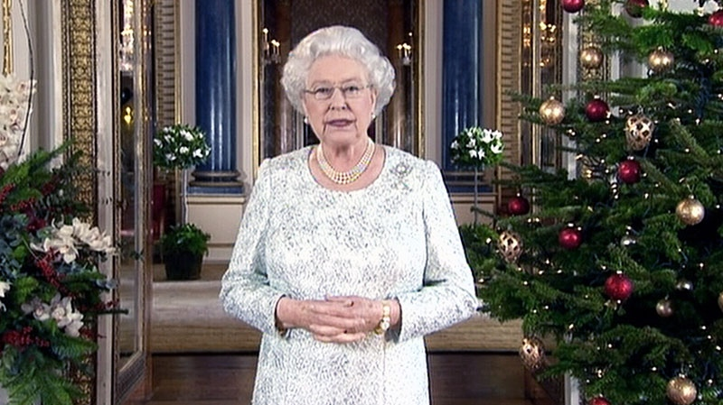 Queen Elizabeth II delivers her annual Christmas message on Tues., Dec. 25, 2012.