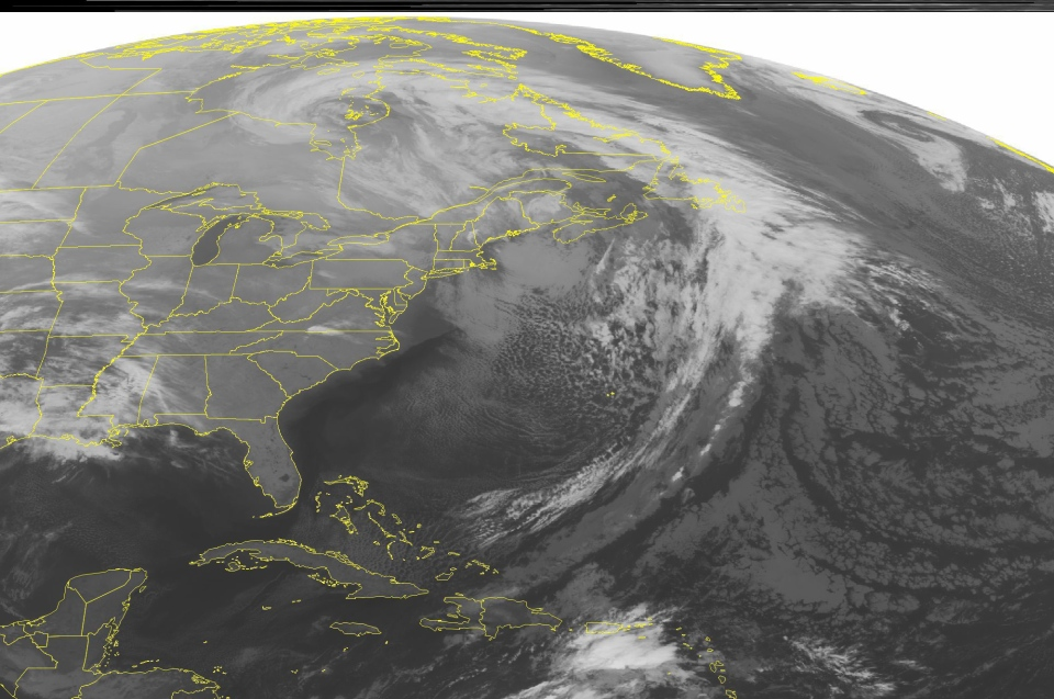 An upper level trough is seen over the Northeast with breezy conditions and snow showers across northern New England. Lake effect snow showers are occurring in western New York and eastern Michigan. A dry cold front is moving through the Great Lakes, Mid Mississippi Valley, and northern Oklahoma. Showers are developing over eastern Louisiana and southwestern Mississippi. All of which is seen in this NOAA satellite image taken Sunday, Dec. 23, 2012 at 1:45 a.m. EST. (AP / WEATHER UNDERGROUND)