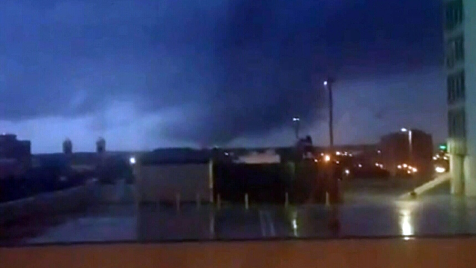 Powerful winter tornadoes hit Mobile, Alabama on Tuesday, Dec. 25, 2012.