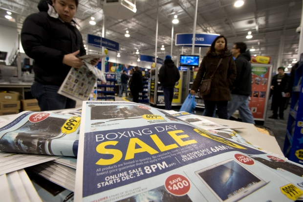 Boxing Day shoppers in the GTA 2012