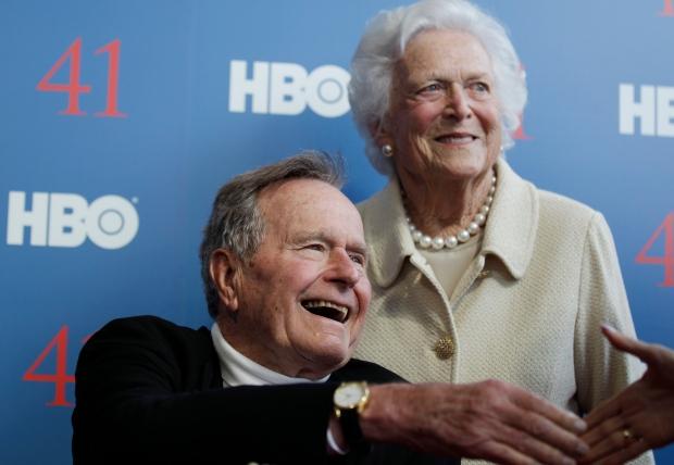 Ex U.S. president Bush recovering in hospital